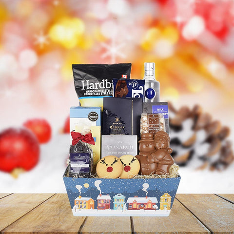 Holiday Spirits & Sweets Gift Set, liquor gift baskets, gourmet gifts, gifts