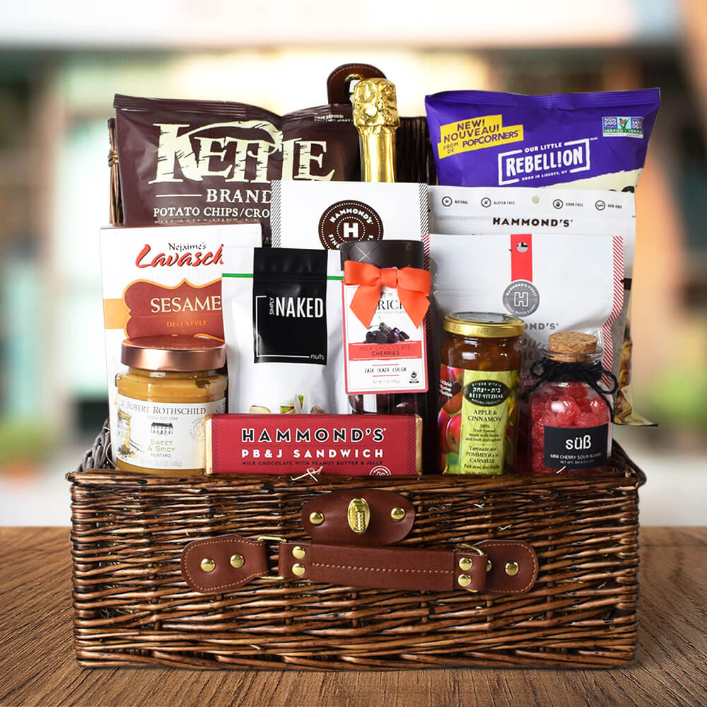 Kosher Champagne & Snacks Basket
