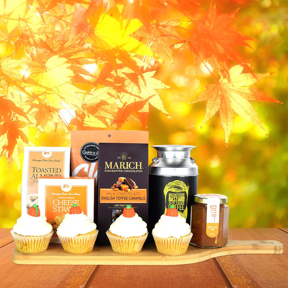 Happy Thanksgiving Treats Basket,  Thanksgiving gift baskets, gourmet gift baskets