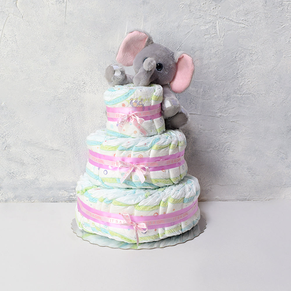 Diaper Cake with Elephant