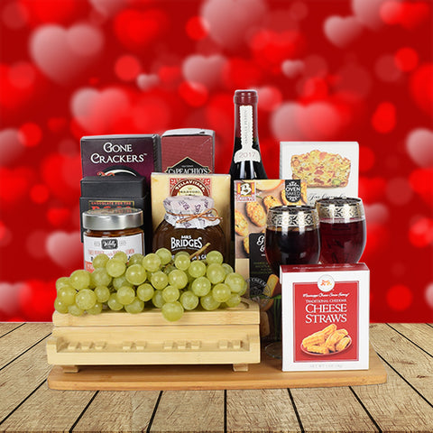 Piano Wine & Cheese Gift Basket