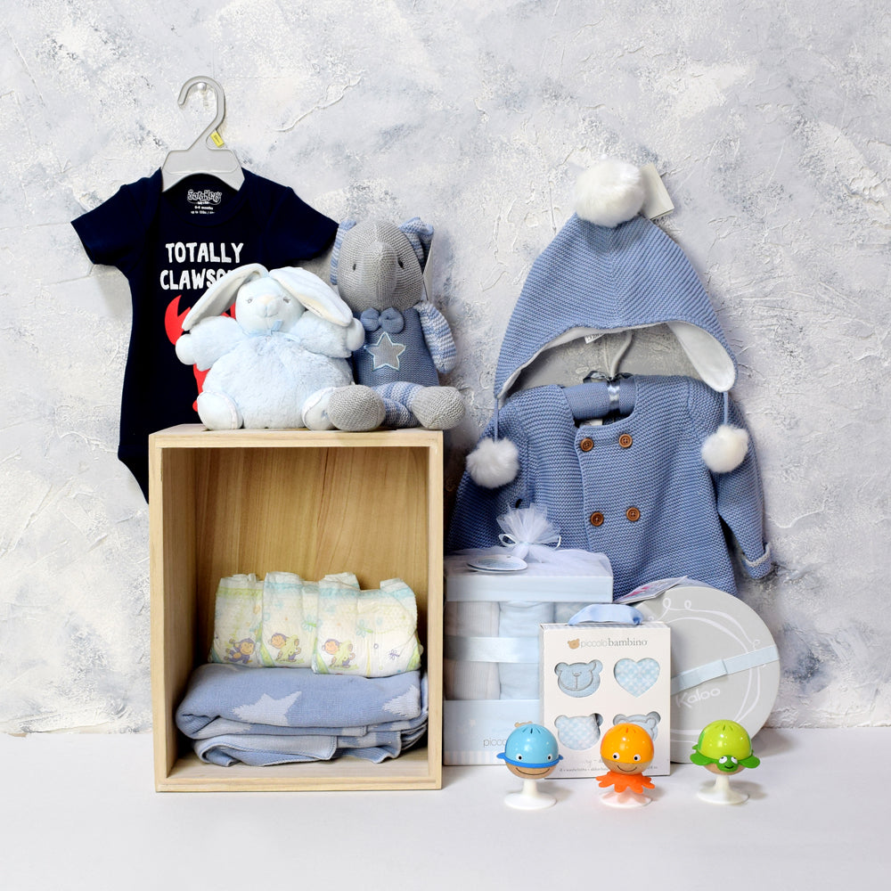 LI'L BOY LUXURY GIFT SET, baby boy gift hamper, newborns, new parents