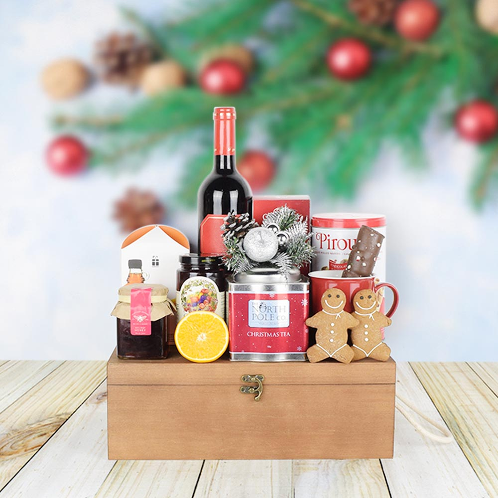 Sweet Comforts Rustic Gift Set, wine gift baskets, gourmet gifts, gifts