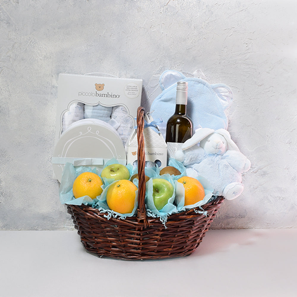Spring in Bloom Gift Set with Wine, baby gift baskets, baby gifts, wine gift baskets