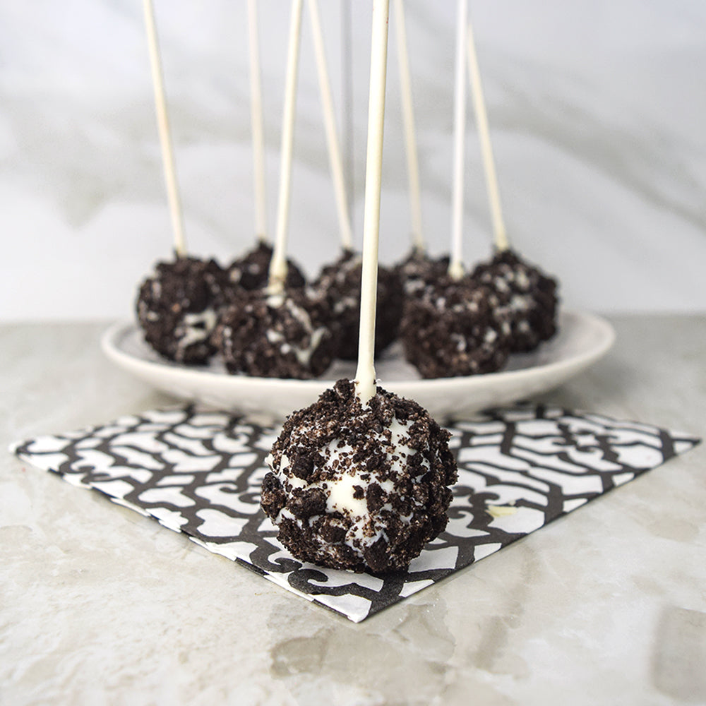 Cookies & Cream Cake Pops, cake pop gift baskets, baked goods