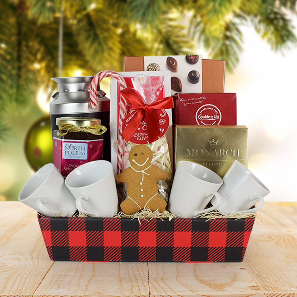 Festive Coffee Gift Basket, gourmet gift baskets, Christmas gift baskets