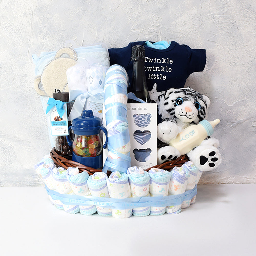 Twinkling Star Champagne Gift Set, baby gift baskets, champagne gift baskets