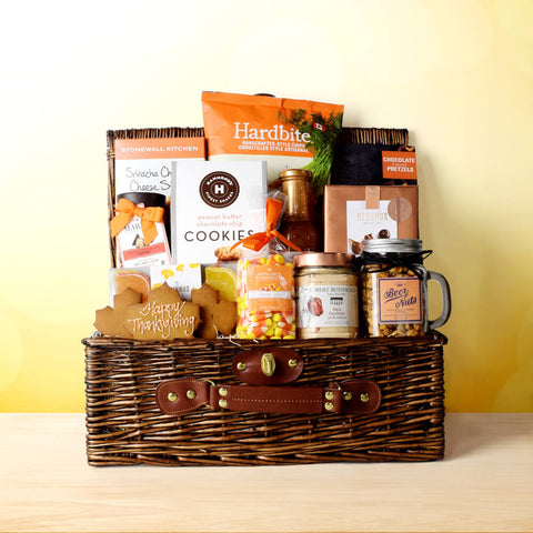 Deluxe Thanksgiving Treats Basket, Thanksgiving gift baskets, Thanksgiving gift sets, Canada delivery, USA delivery