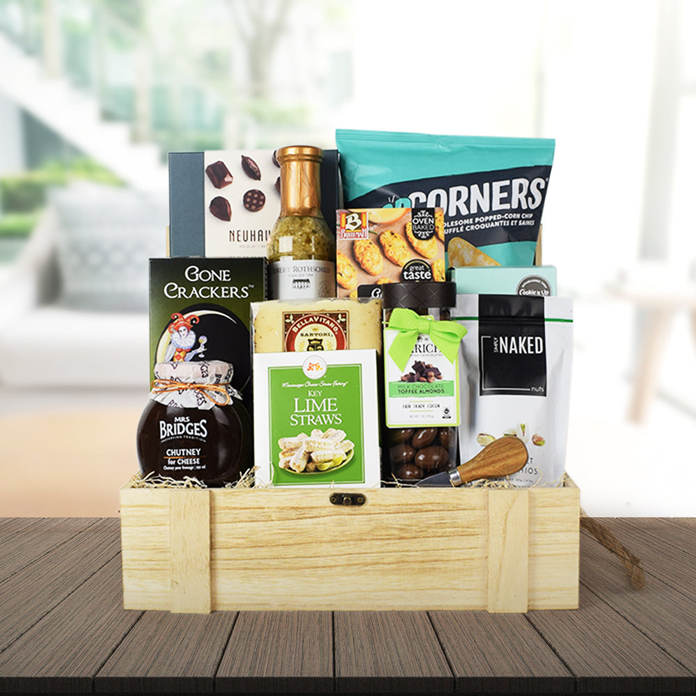 LEISURE IN A GOURMET GIFT BASKET