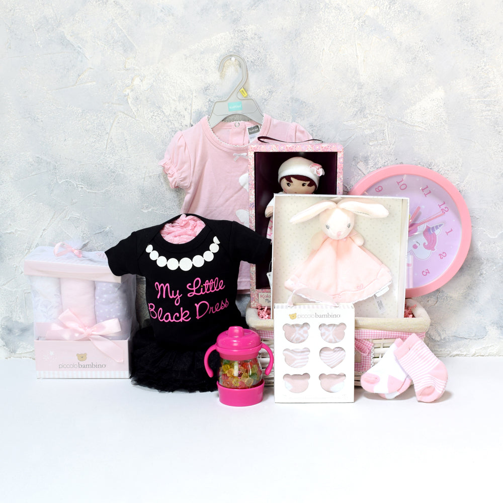 BABY GIRL'S BEDROOM & PLAYSET, baby girl gift hamper, newborns, new parents