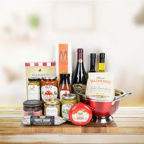 Celebratory Feast & Wine Gift Set, wine gift baskets, gourmet gift baskets, gift baskets, gourmet gifts