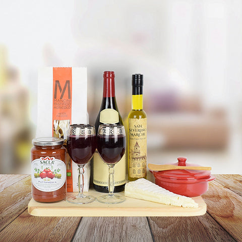 Italian Countryside Gift Set, wine gift baskets, gourmet gift baskets, gift baskets, gourmet gifts