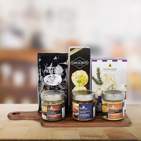 Appetizer Dipping Gift Set, gourmet gift baskets, gourmet gifts, gifts
