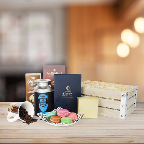Magnificent Macaron Gift Crate, gourmet gift baskets, gourmet gifts, gifts