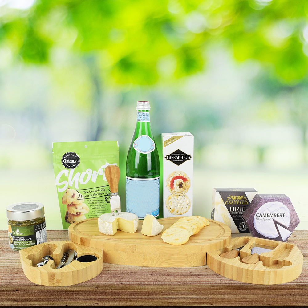 Cheese, Cookies & Crackers Gift Set, gourmet gift baskets, gift baskets, gourmet gifts