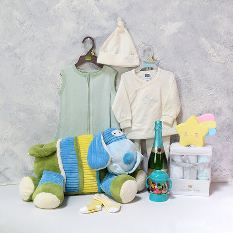 Unisex Baby Celebration Set, baby gift baskets, baby boy, baby gift, new parent, baby