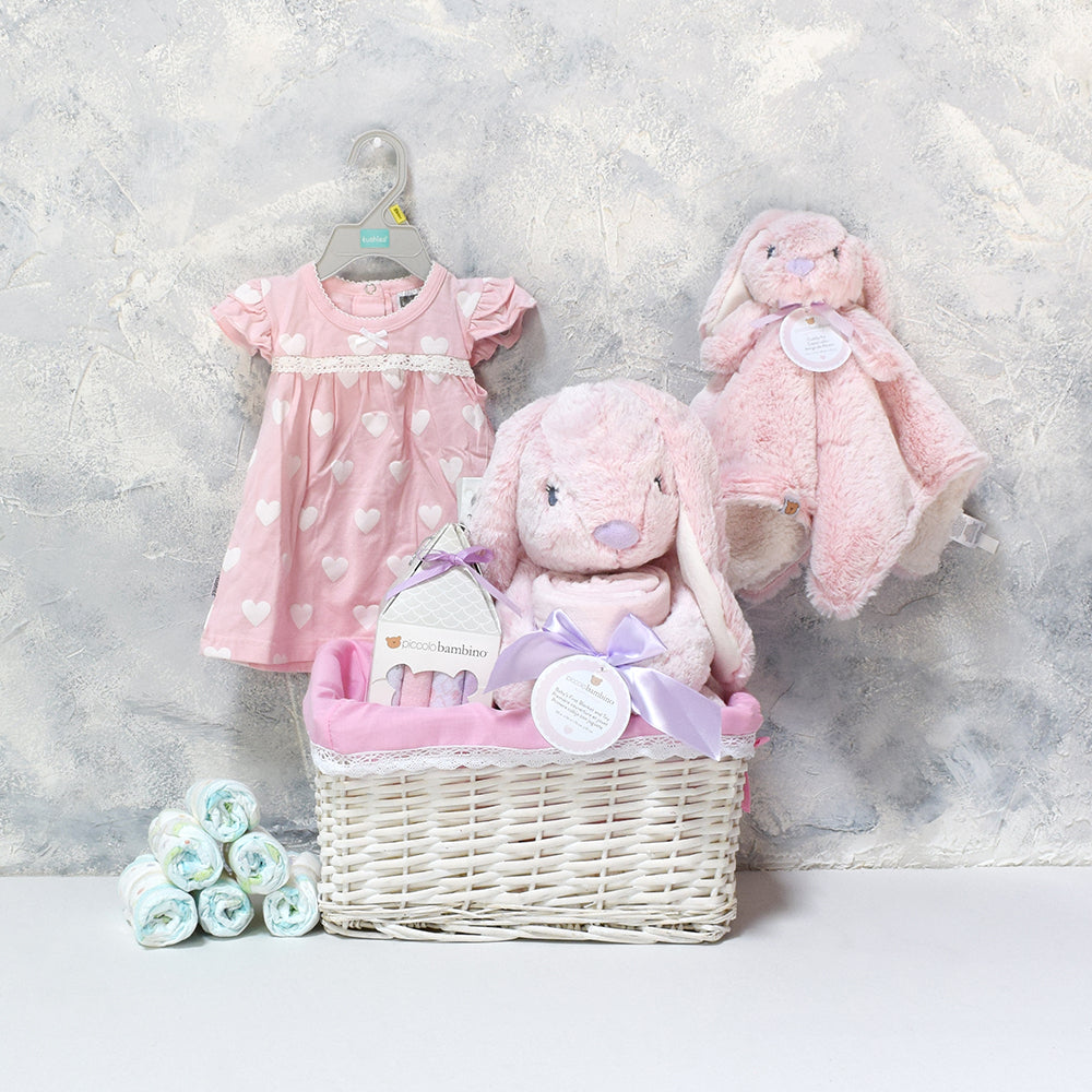 Trixie the Rabbit Gift Set, baby gift baskets, baby boy, baby gift, new parent, baby