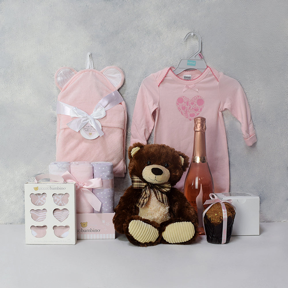 THE PARENTHOOD GIFT BASKET, baby girl gift hamper, newborns, new parents