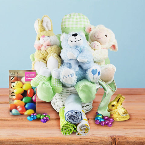Easter gift baskets toronto canada hopping baby boy gift basket negle Image collections