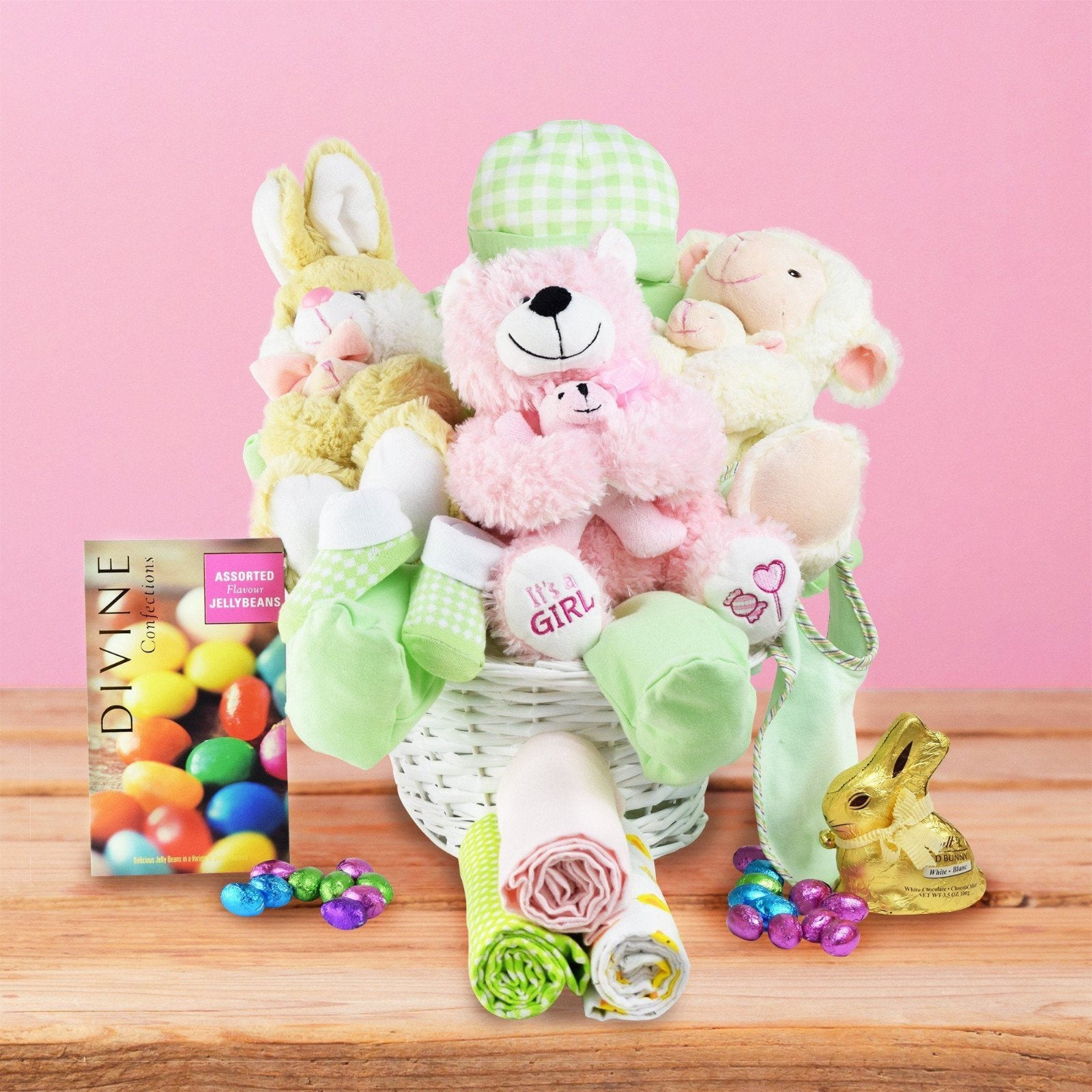 Hopping Baby Girl Gift Basket