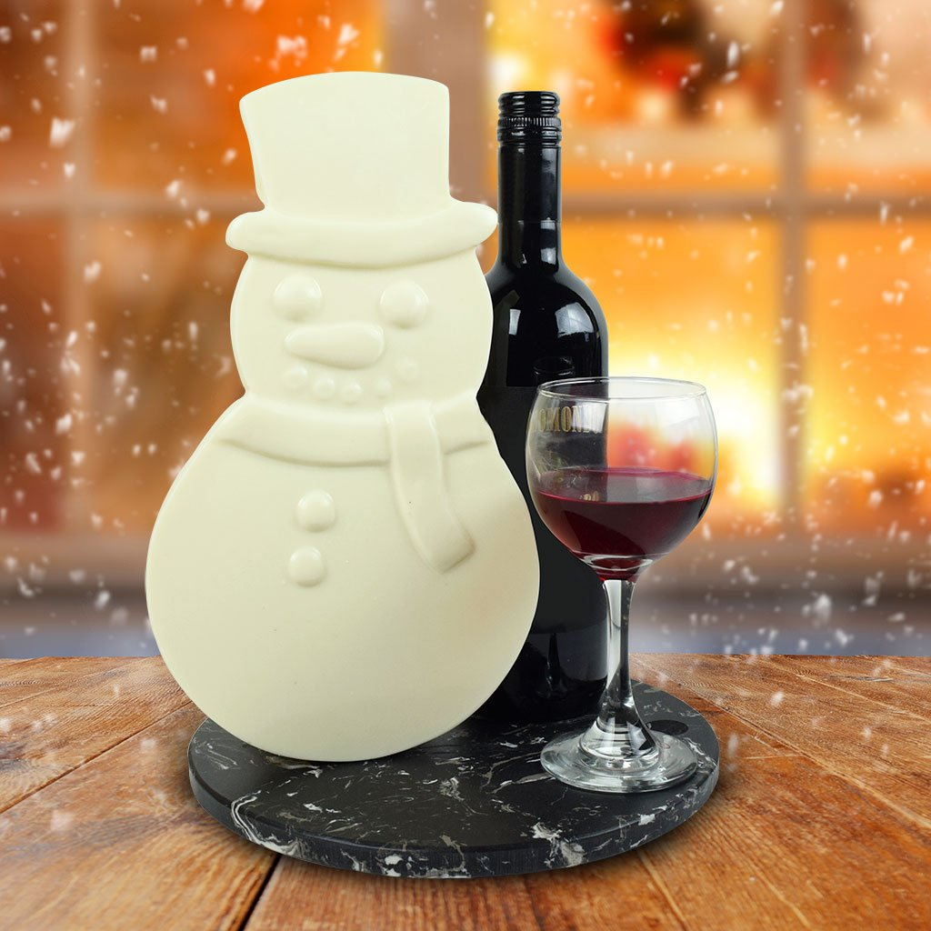 Frosty The White Chocolate Snowman Wine Gift