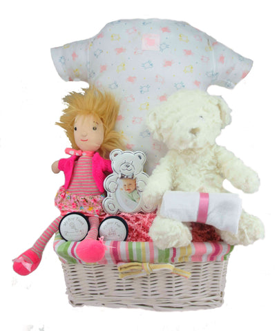 Jelle Belle Baby Girl Gift Basket