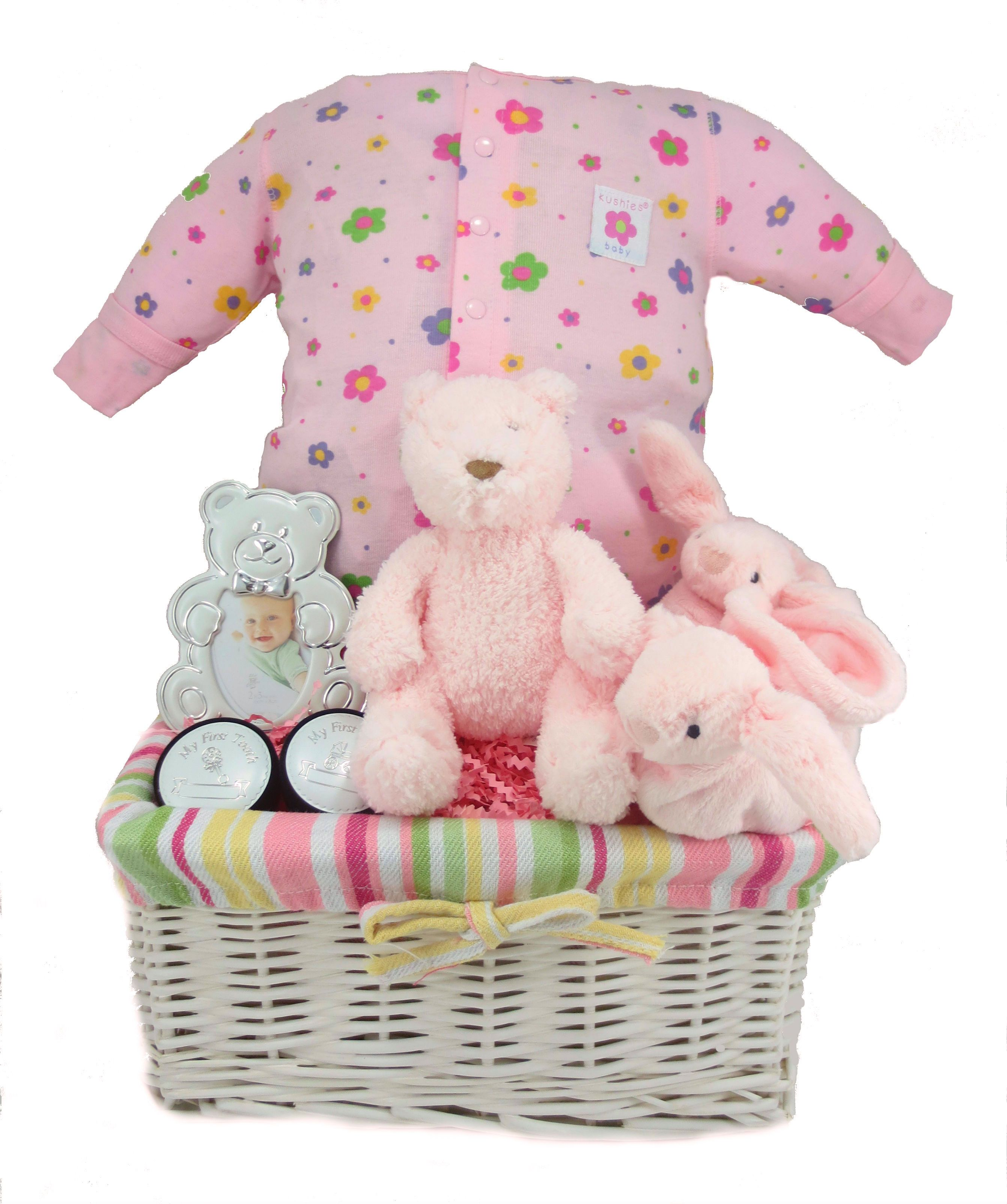 Pretty in Pink Baby Gift Basket