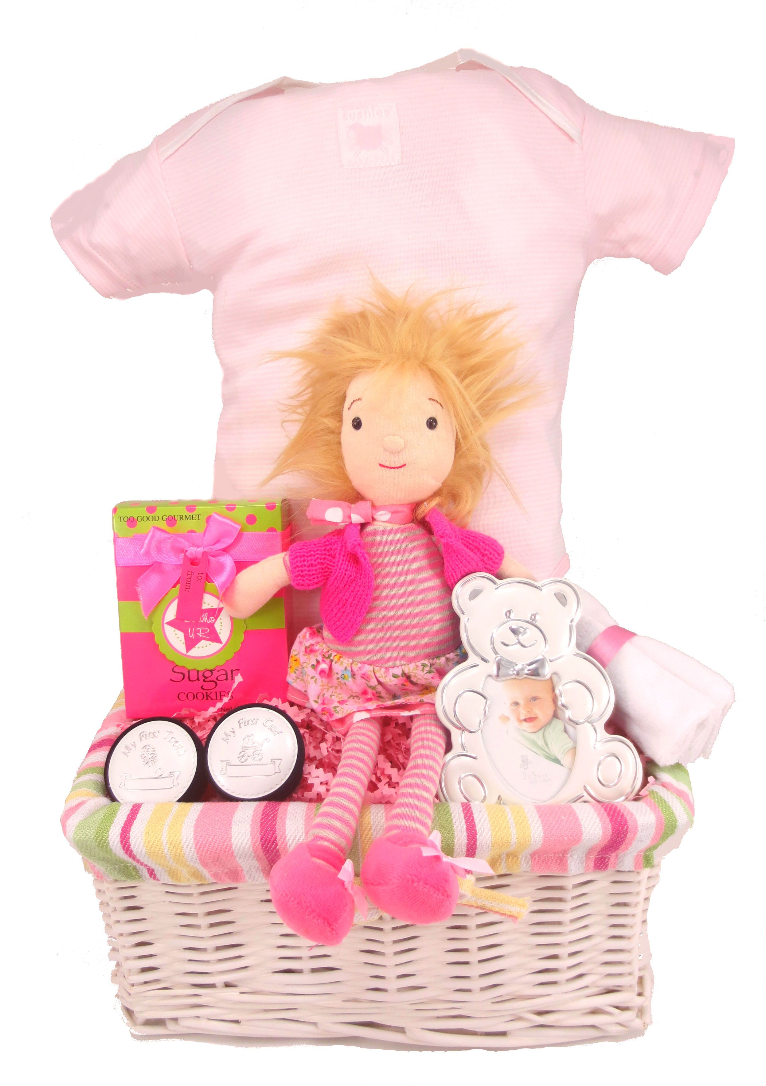 Fun Pink Baby Gift Baskets