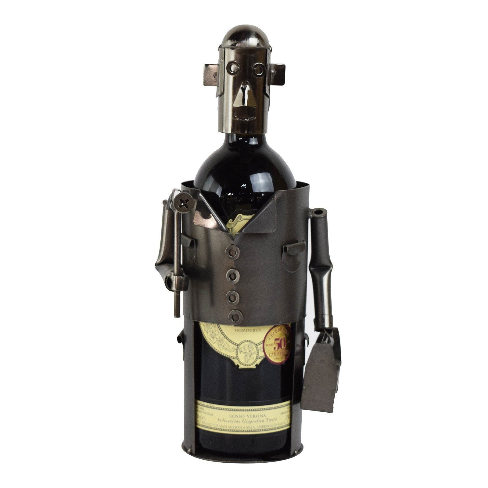 The Toolman Metal Wine Holder - Includes Wine!