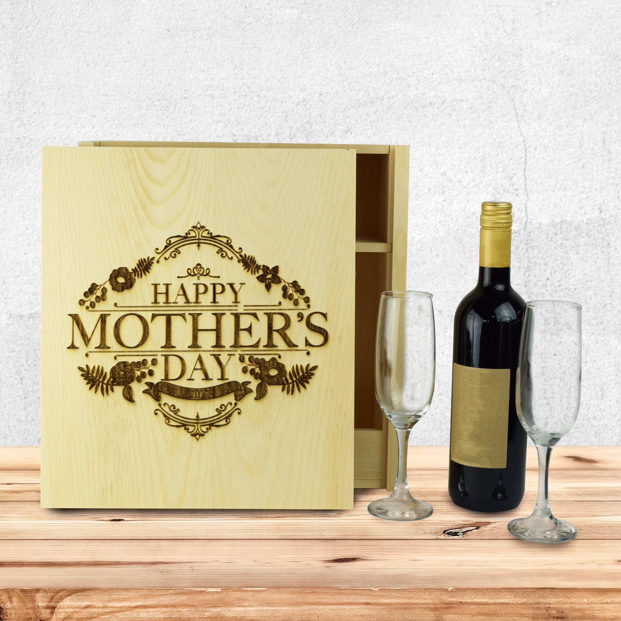 Happy Mother's Day Wine Crate
