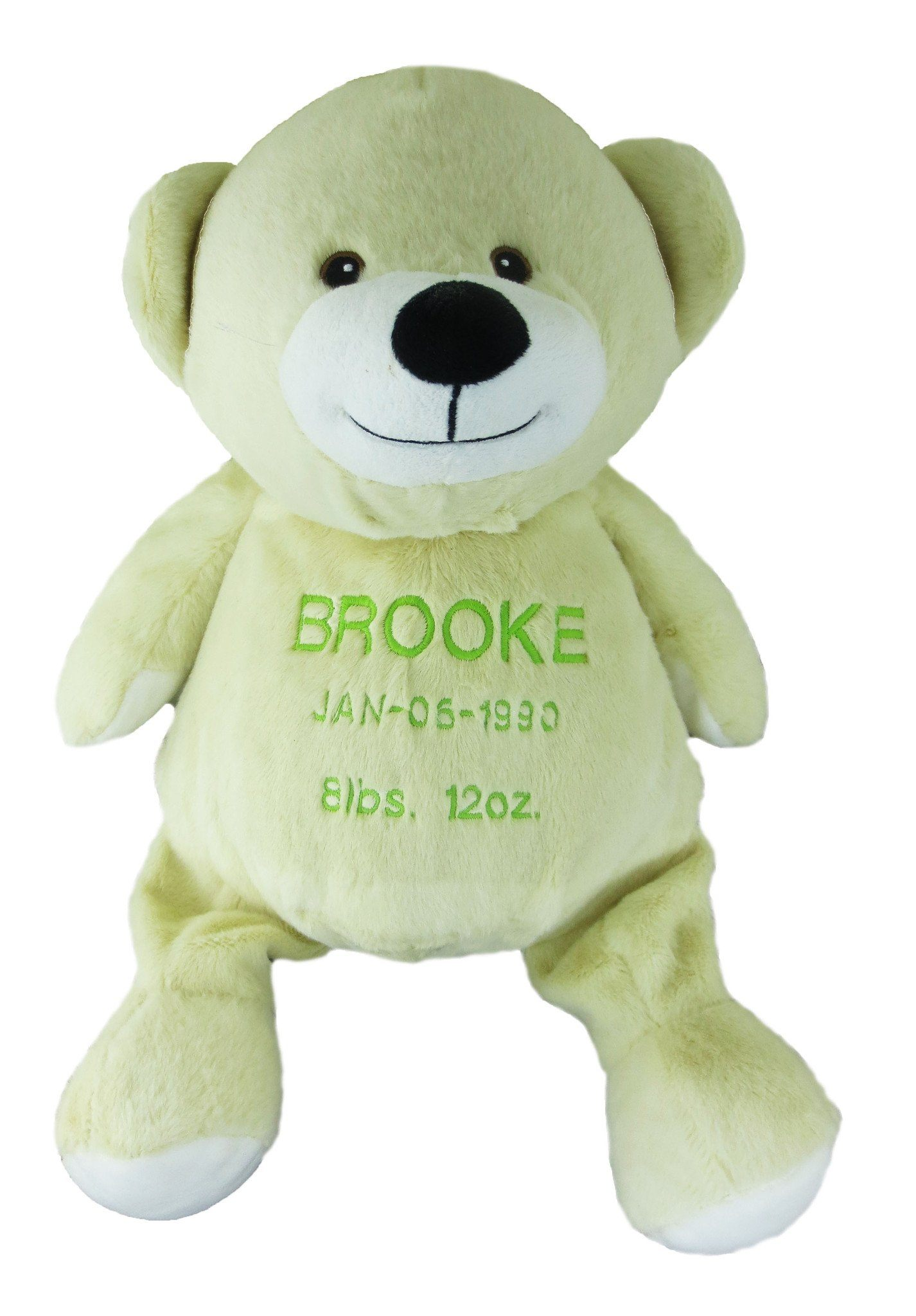 Embroidered White/Beige Bear