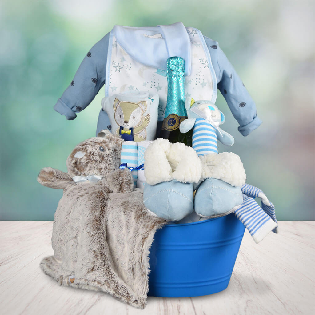It's A Boy! Champagne Gift Basket