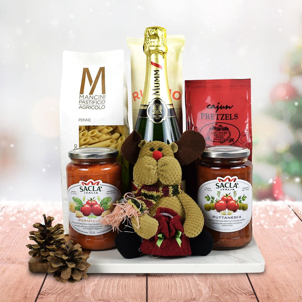 Italy's Christmas Eve Pasta Gift Set With Champagne ...