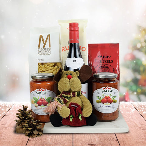 Italy's Christmas Eve Pasta Gift Set With Wine
