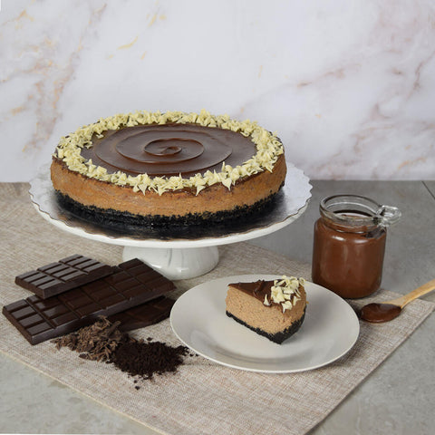 Small Chocolate Cheesecake With Hazelnut Spread