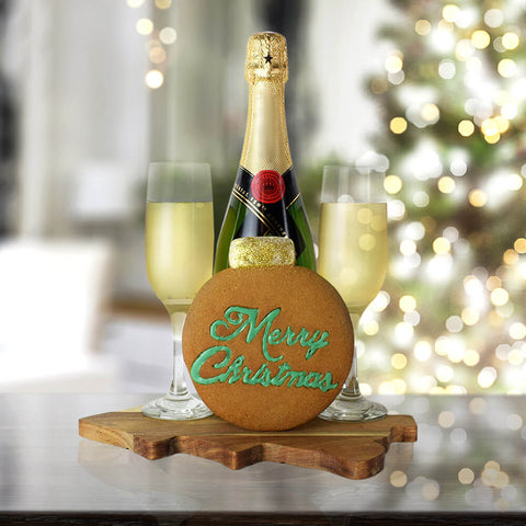 Merry Christmas Champagne Set, champagne gift baskets, Christmas gift baskets