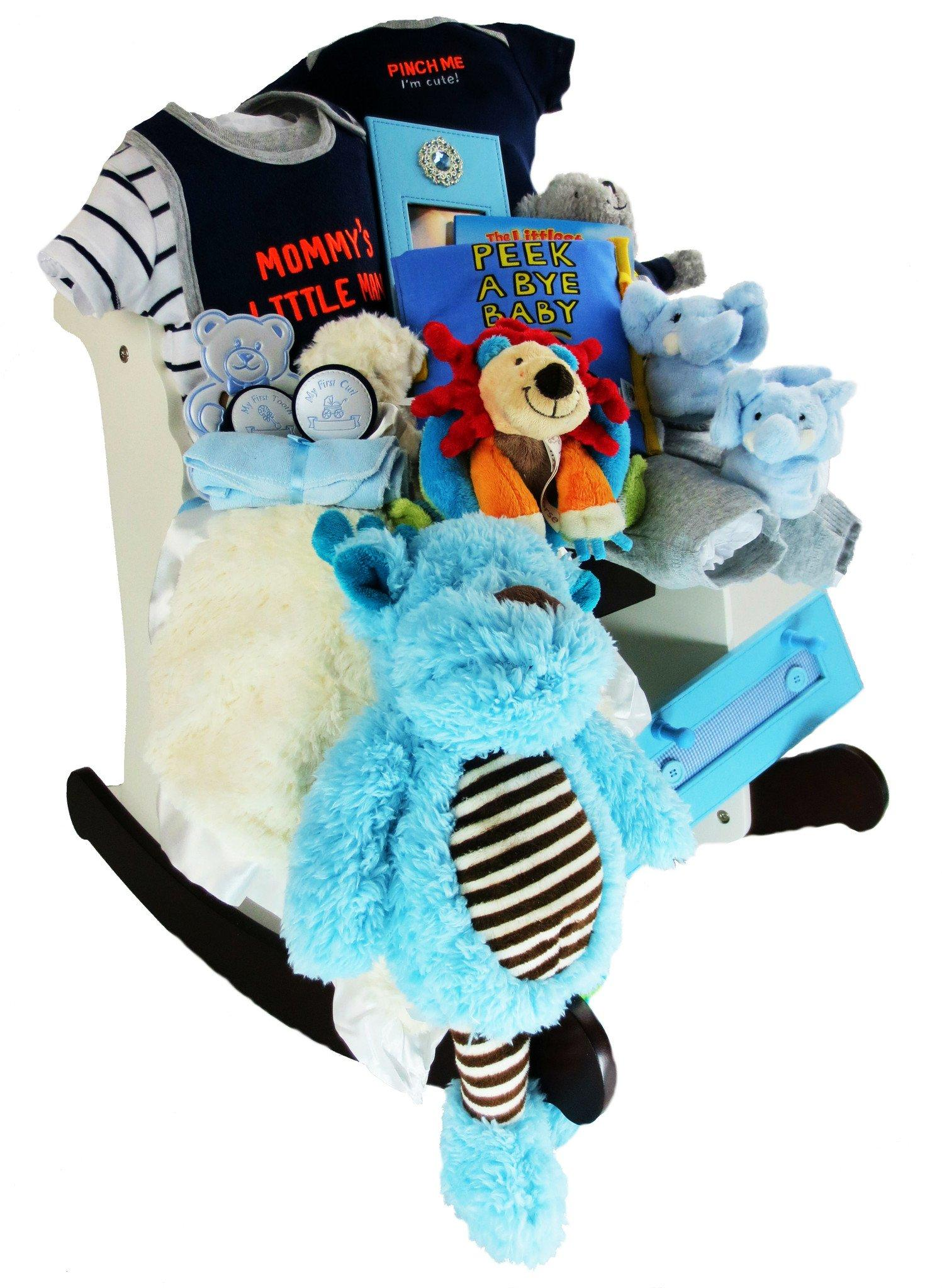 Pinch Me I'm Cute Rocking Horse Gift Basket