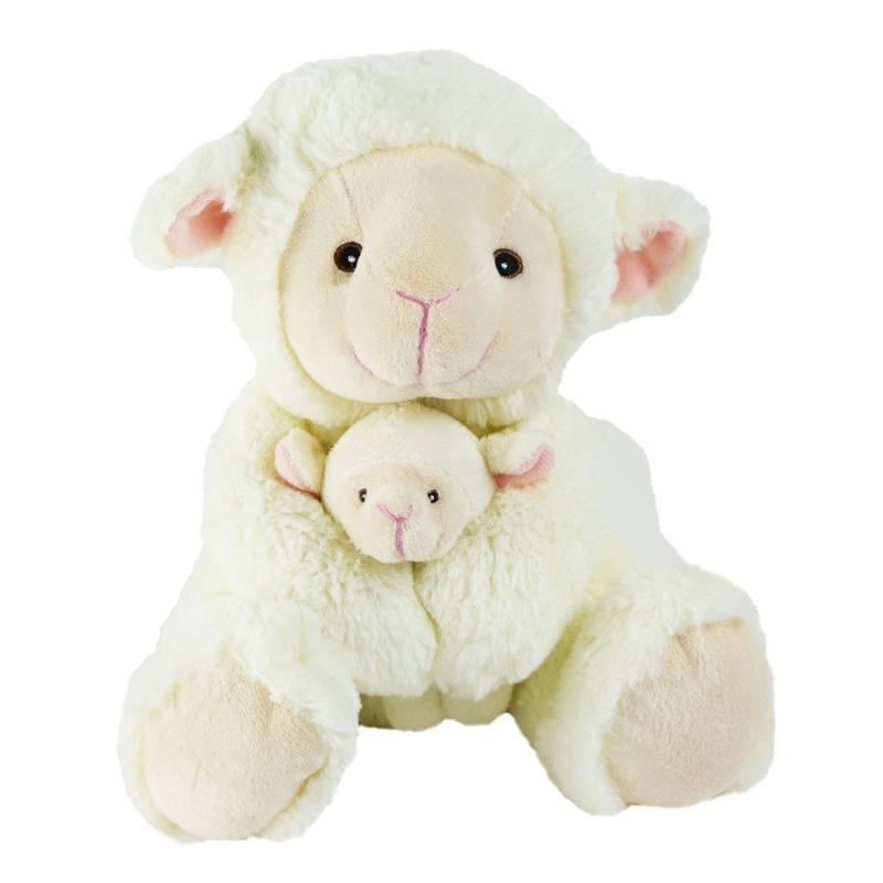 Plush sheep and lamb