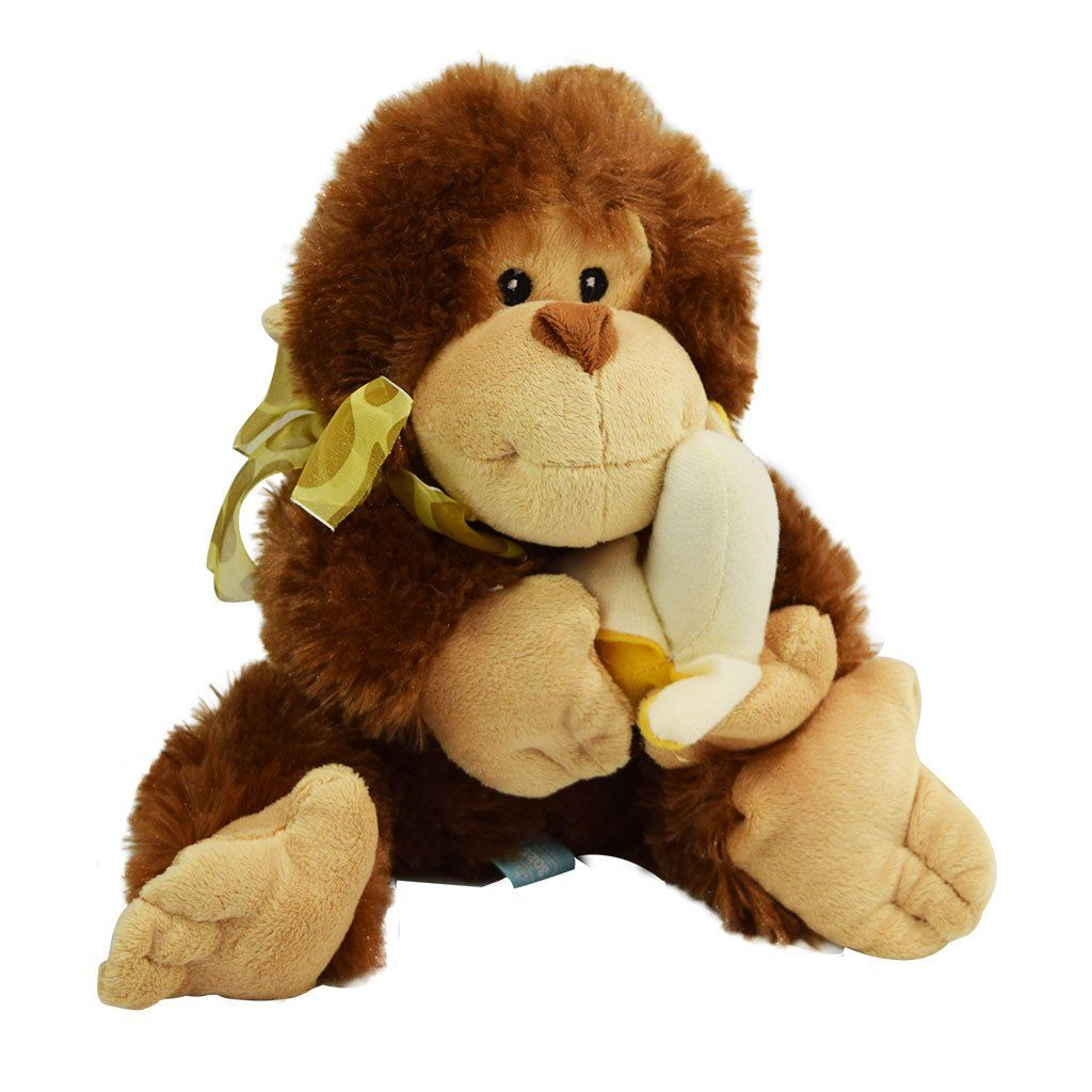 Plush monkey with banana