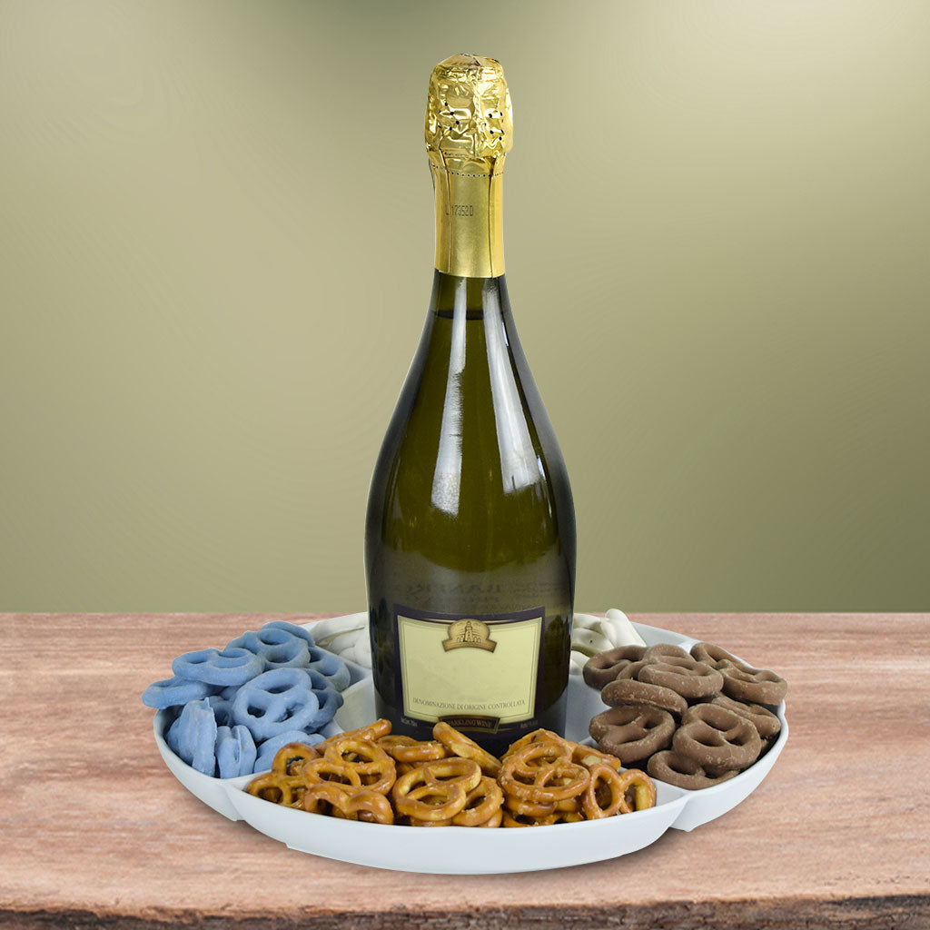 Pretzels At Play Champagne Gift Basket