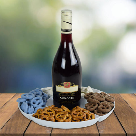 Pretzels At Play Wine Gift Basket
