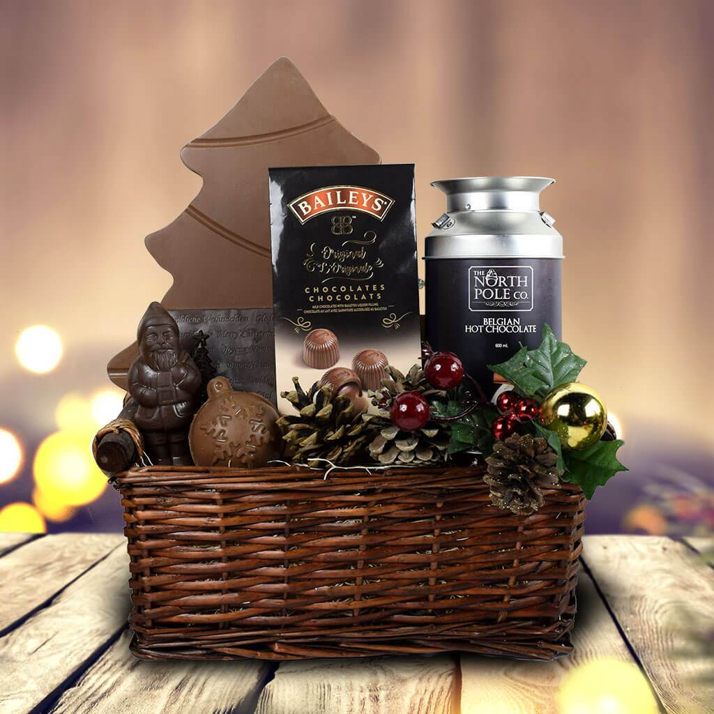 Santa's Village Gift Basket