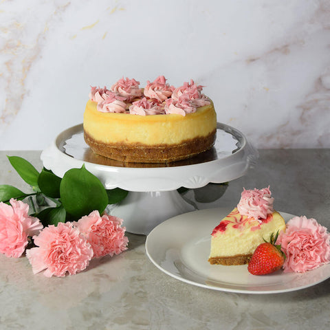 Small Strawberry Cheesecake