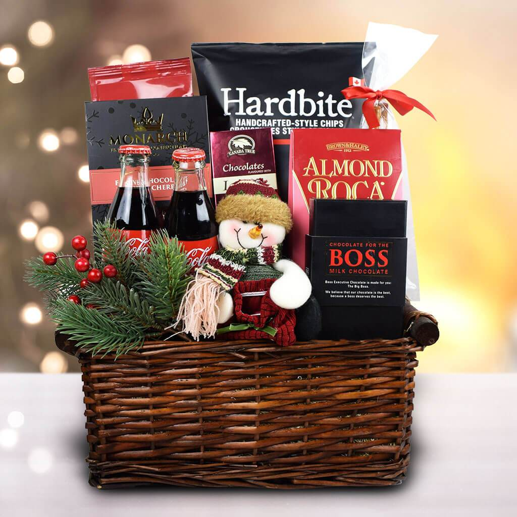 Snowman Delights Gift Basket