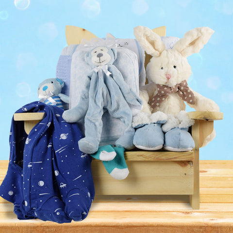 Snuggle Bug Baby Boy Gift Basket