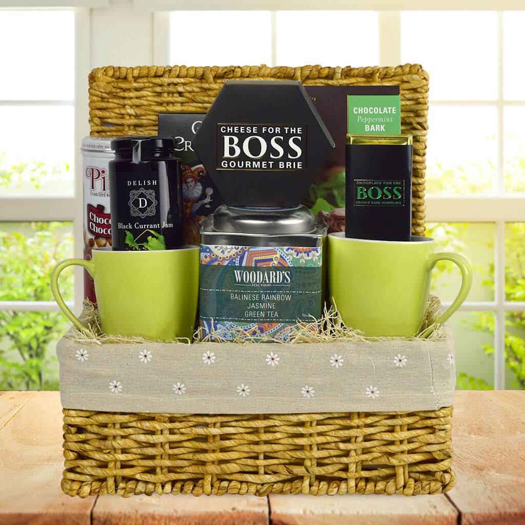 Tea & Chocolate For Two Gift Basket
