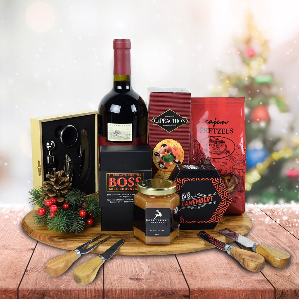 The Christmas Party Gift Set With Wine