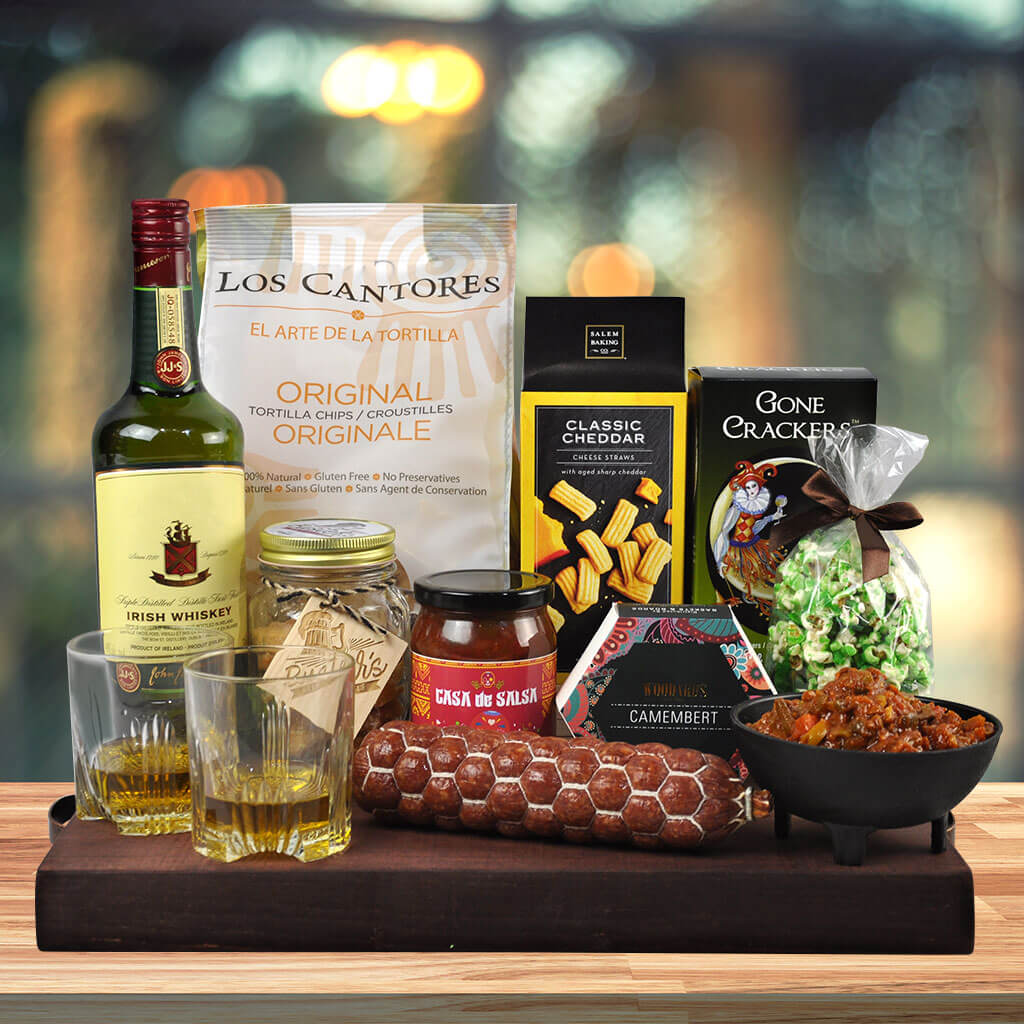 Whiskey and Treats St. Patrick's Day Gift Basket