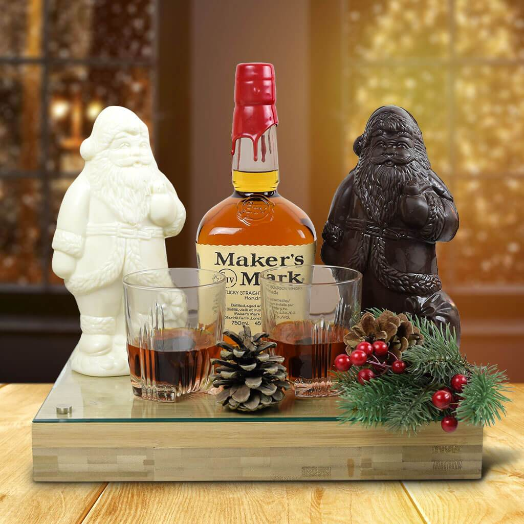 Whiskey & Chocolate Santa Gift Set