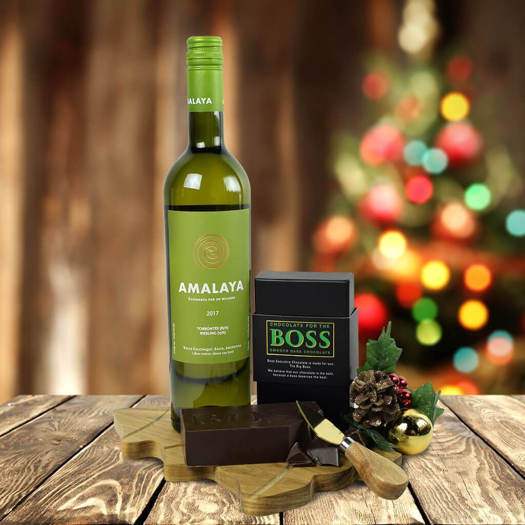 Wine & Boss Chocolate Gift Set